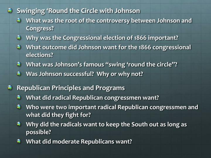 Swinging 'Round the Circle with Johnson