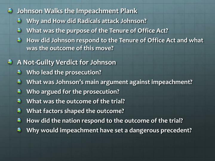 Johnson Walks the Impeachment Plank