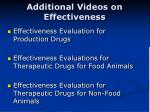 additional videos on effectiveness