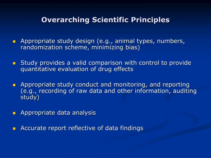 Overarching Scientific Principles