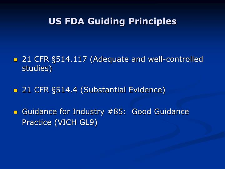 US FDA Guiding Principles