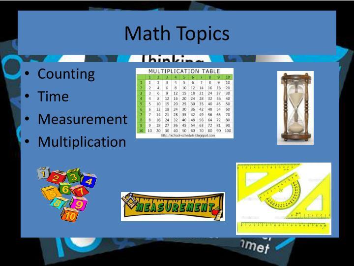 Math Topics