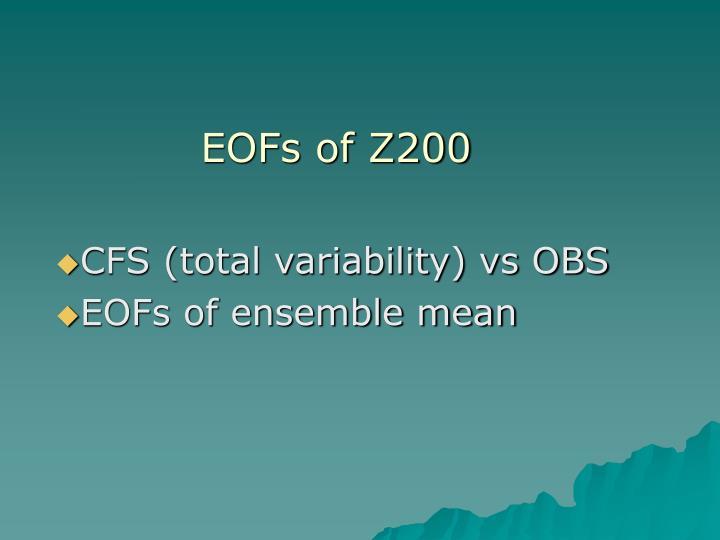 EOFs of Z200