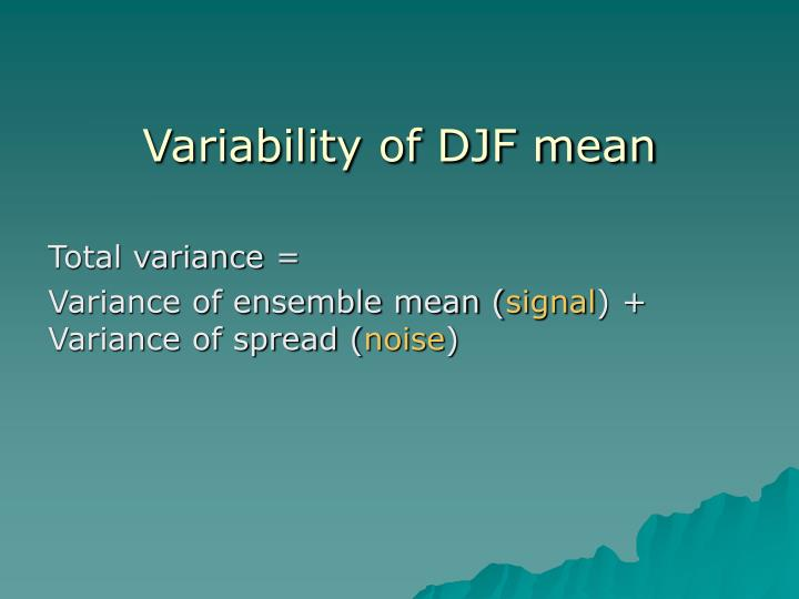 Variability of DJF mean