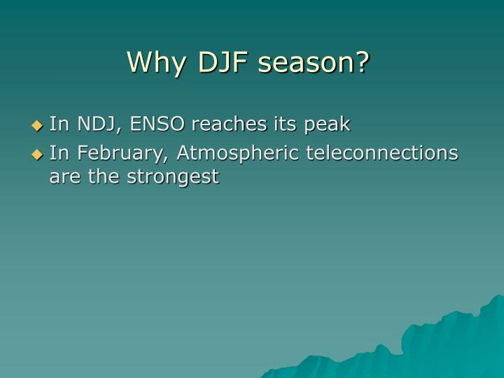Why djf season