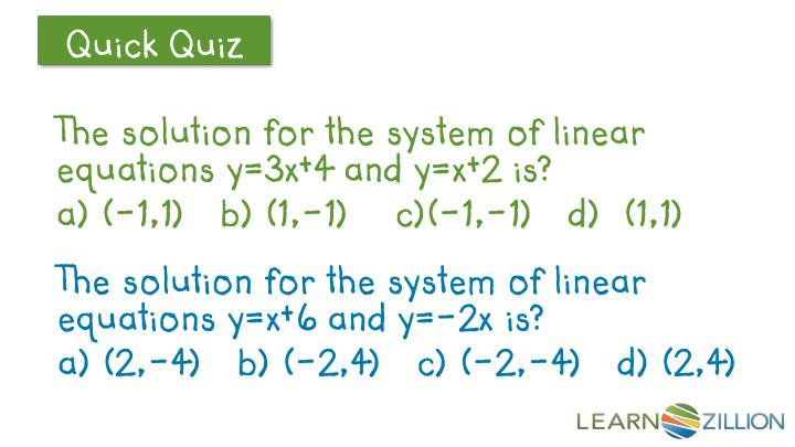 The solution for the system of linear equations y=3x+4 and y=x+2 is?