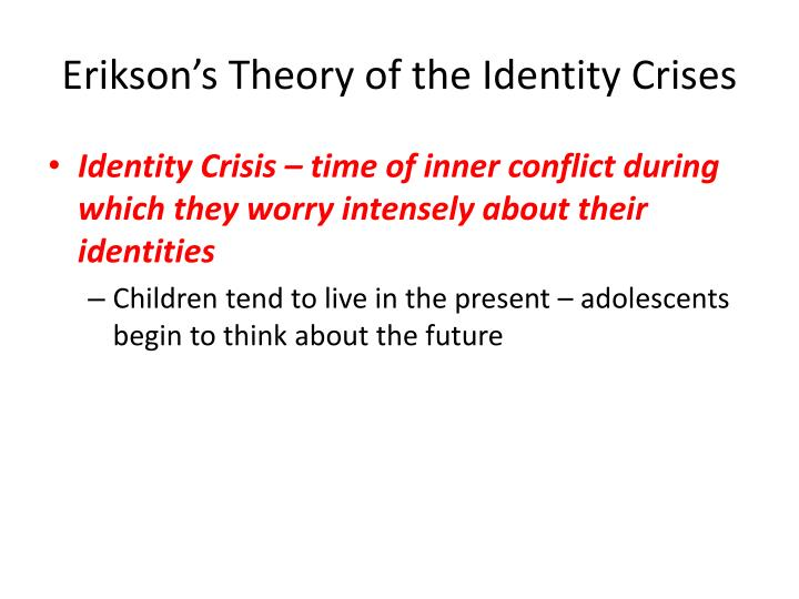 Erikson's Theory of the Identity Crises