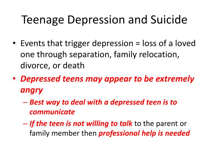Teenage Depression and Suicide