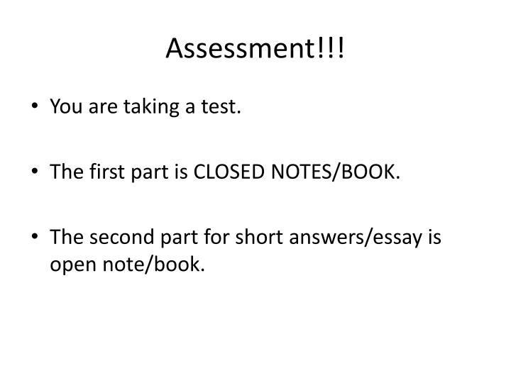 Assessment!!!