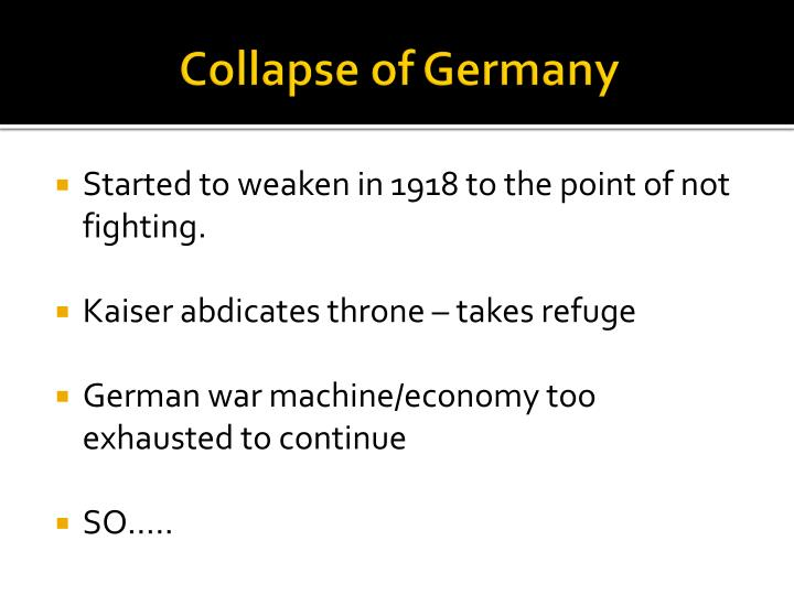 Collapse of Germany