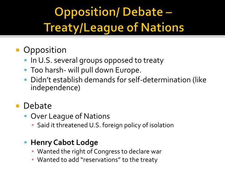 Opposition/