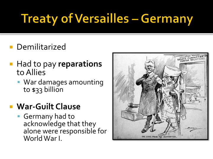 Treaty of Versailles – Germany