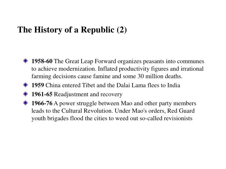 The History of a Republic (2)