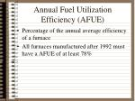 annual fuel utilization efficiency afue