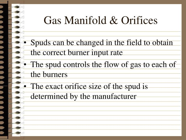 Gas Manifold & Orifices