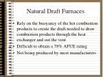 natural draft furnaces