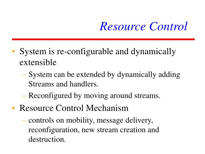 Resource Control