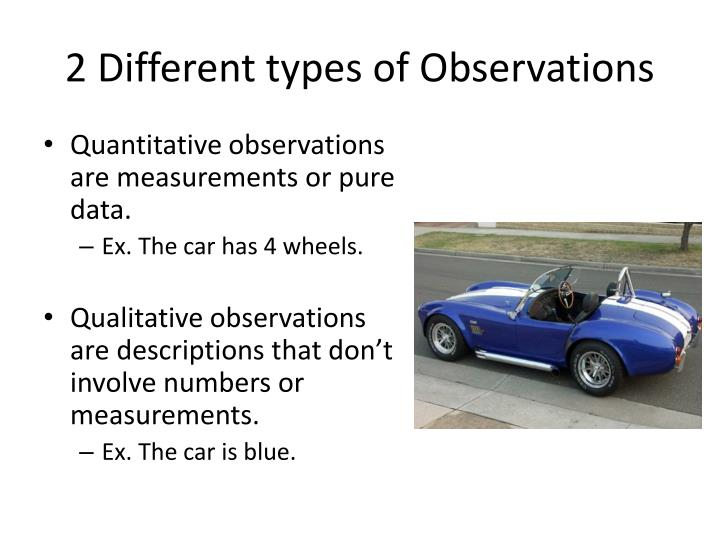 2 Different types of Observations