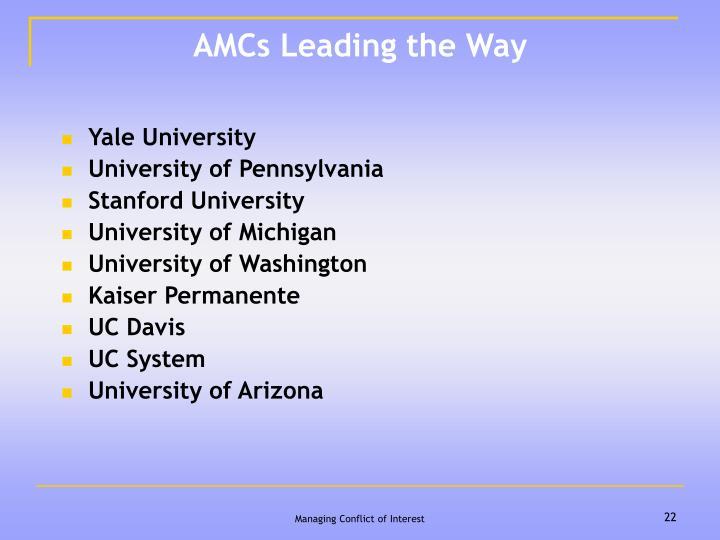 AMCs Leading the Way