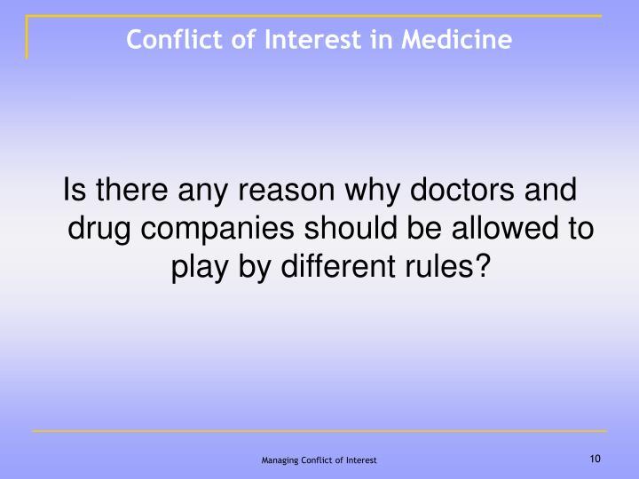 Conflict of Interest in Medicine