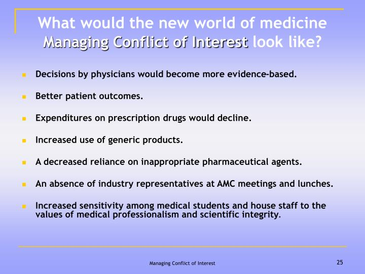 What would the new world of medicine