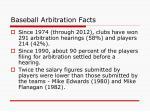 baseball arbitration facts