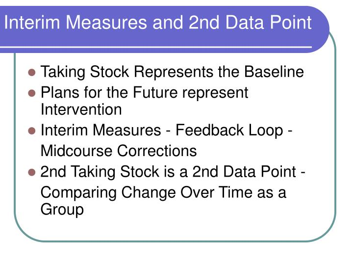 Interim Measures and 2nd Data Point