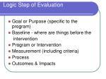 logic step of evaluation