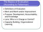 the basics of evaluation according to fetterman