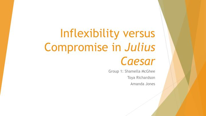 Inflexibility versus Compromise in
