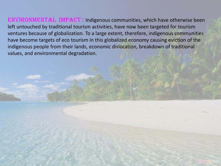 Environmental  Impact :