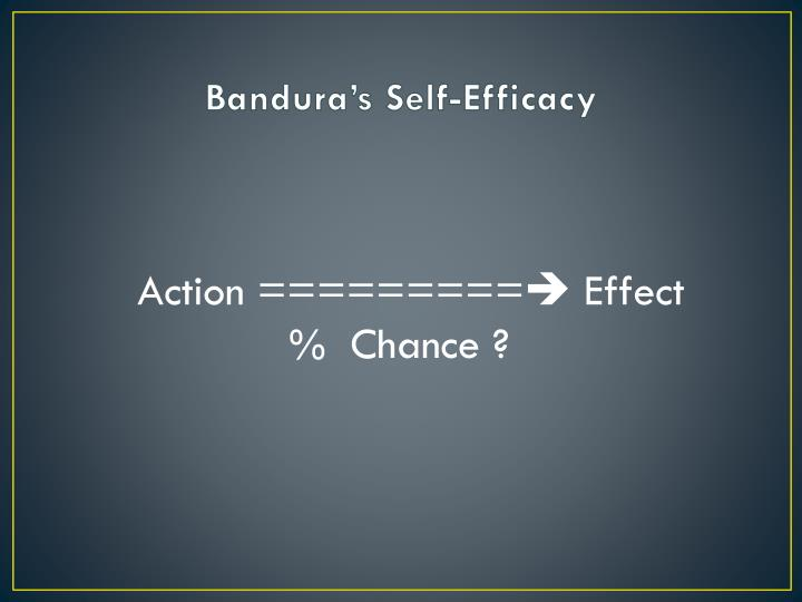 Bandura's Self-Efficacy