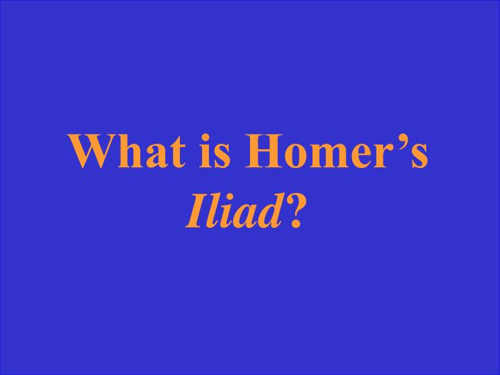 What is Homer's
