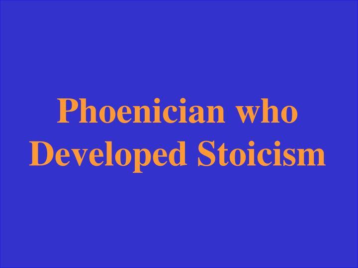 Phoenician who Developed Stoicism