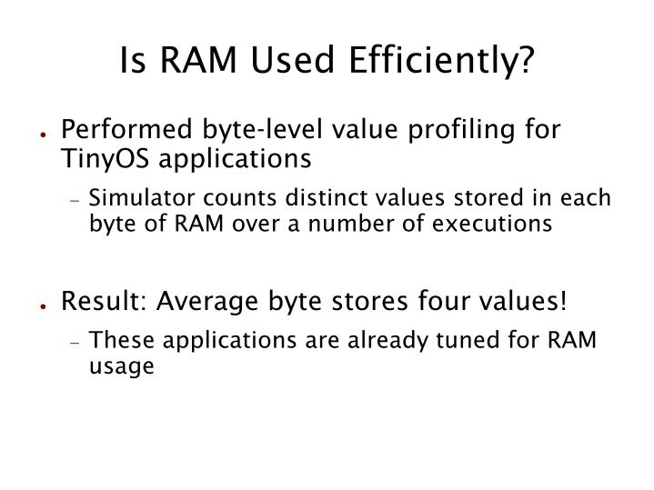 Is RAM Used Efficiently?