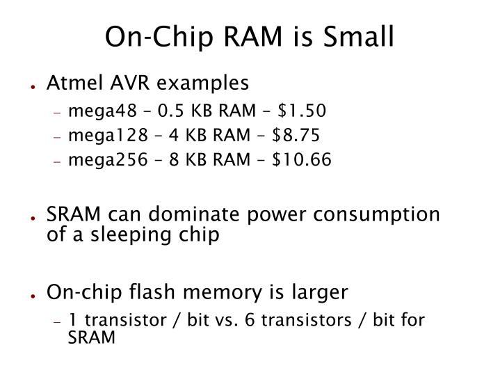 On chip ram is small