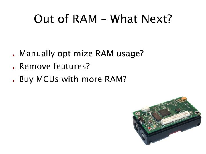 Out of RAM – What Next?