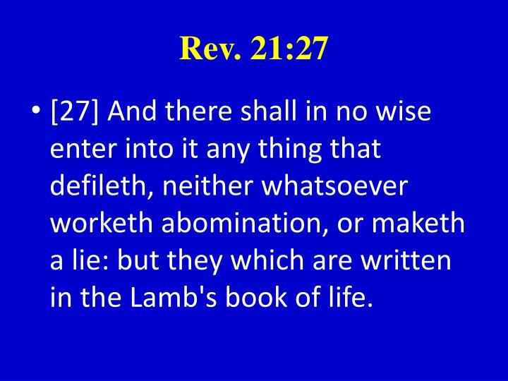 Rev. 21:27