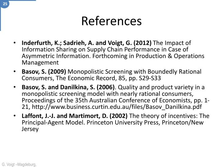 Inderfurth, K.; Sadrieh, A. and Voigt, G. (2012)
