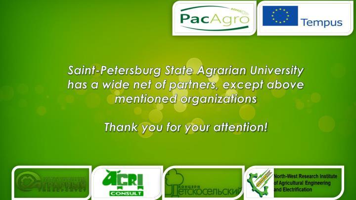 Saint-Petersburg State Agrarian