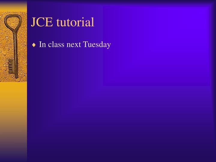 JCE tutorial