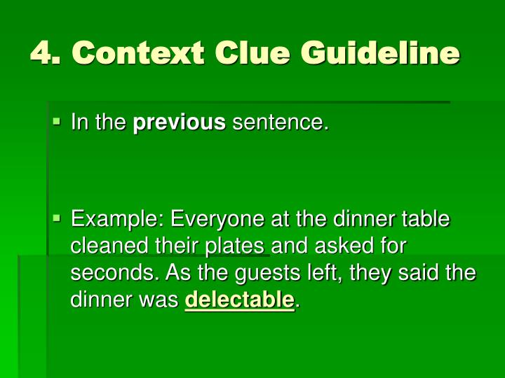 4. Context Clue Guideline