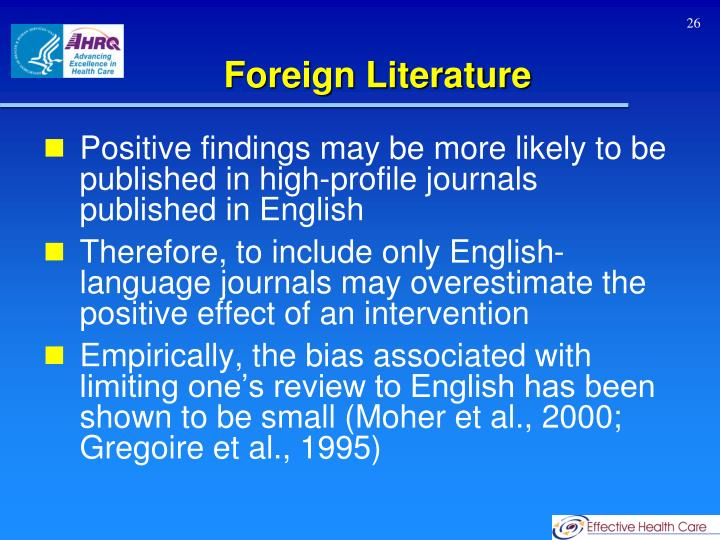 Foreign Literature