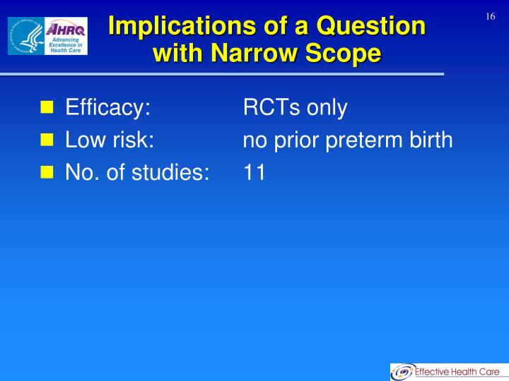 Implications of a Question with Narrow Scope