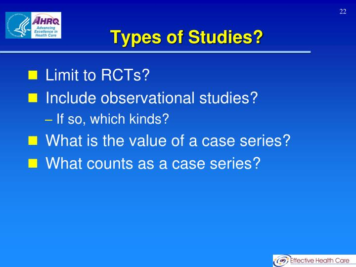 Types of Studies?