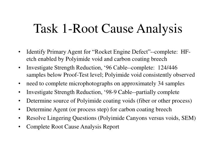 Task 1 root cause analysis