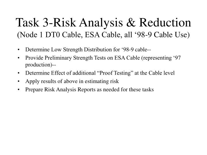Task 3-Risk Analysis & Reduction