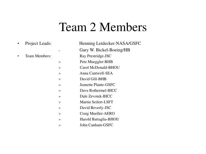 Team 2 Members