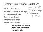 element project paper guidelines