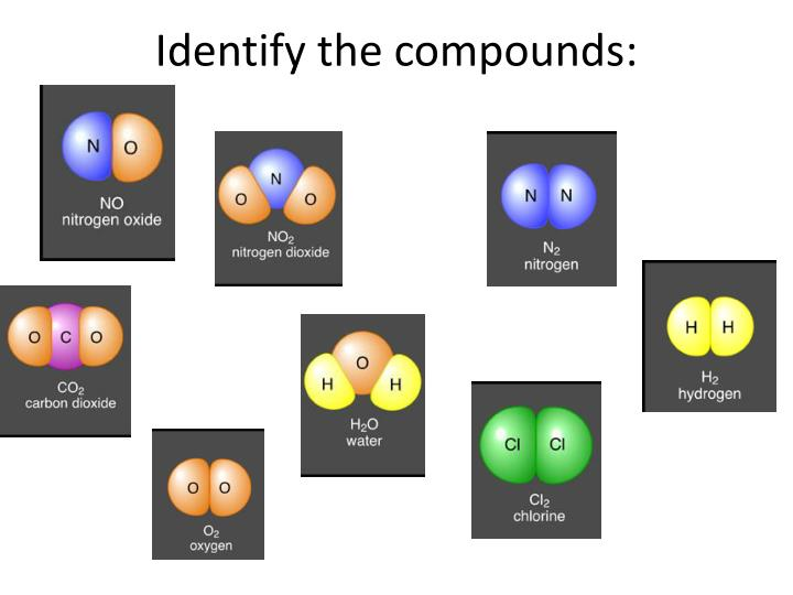 Identify the compounds:
